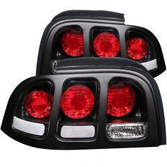 ANZO USA 221020 ANZO 1994-1998 Ford Mustang Taillights Black