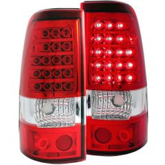 ANZO USA 311007 ANZO 2003-2006 Chevrolet Silverado 1500 LED Taillights Red/Clear