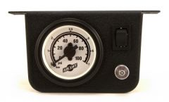 Air Lift Single Needle Gauge W/ 2in Lighted Panel - 100 PSI