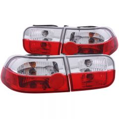 ANZO USA 221220 ANZO 1992-1995 Honda Civic Taillights Red/Clear