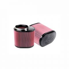 S&B Filters Air Filter For Intake Kits 75-5007, 75-3031-1, 75-3023-1, 75-3030-1, 75-3013-2, 75-3034 Cotton Cleanable Red