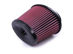 S&B Filters Air Filter For Intake Kit 75-5062 Oiled Cotton Cleanable Red